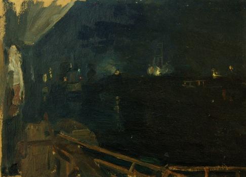 Огни строительства Куйбышевской ГЭС