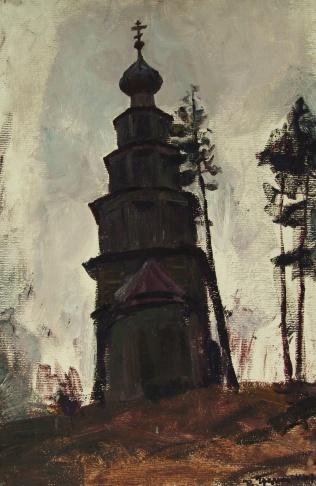 Торжок. Деревянная церковь.