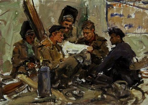 Сварщики Куйбышевской ГЭС в обеденный перерыв