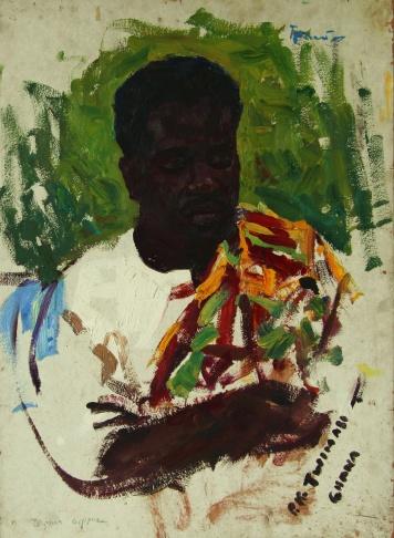 Портрет делегата из Ганы П.К. Твимасо