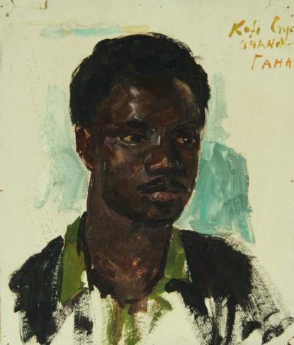 Портрет делегата из Ганы Кофи Криа