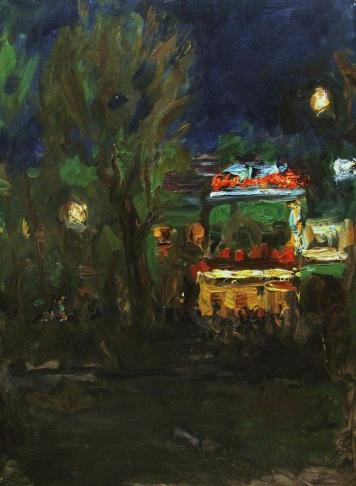 Ночная Москва. Цветной бульвар.