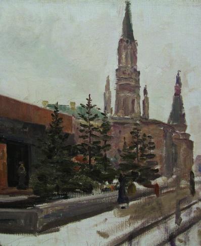 Красная площадь. У мавзолея В.И. Ленина.
