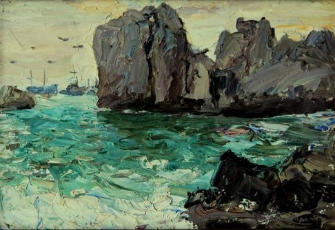 Море и скалы. Гурзуф, Чеховская бухта.