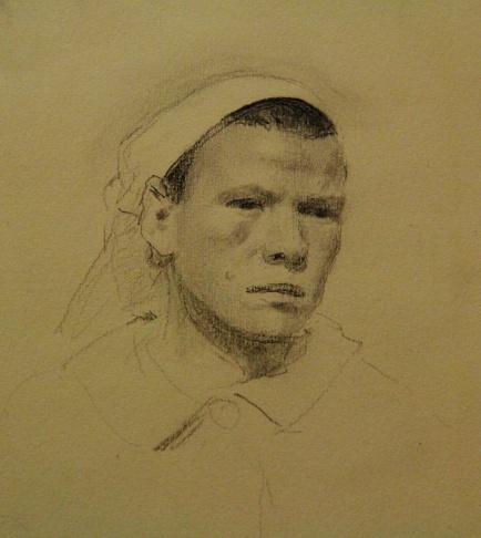 Портрет колхозницы