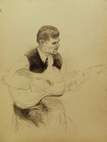Художник с гитарой