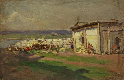 В деревне на Волге