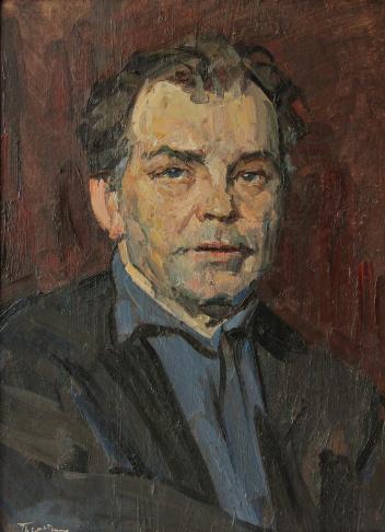 Портрет мужчины в синей рубашке