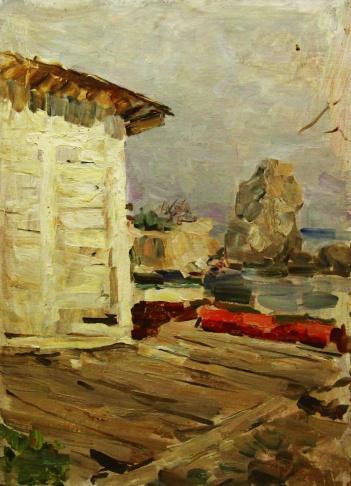 На лодочной станции в Гурзуфе