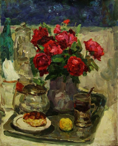 Розы и чай