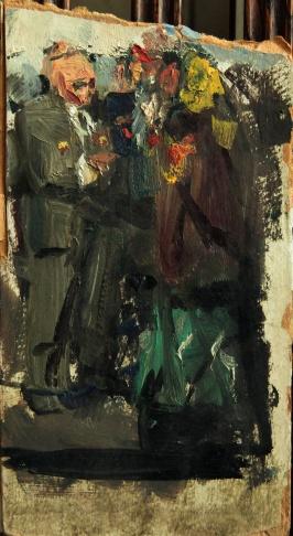 Эскиз к картине «Н.С. Хрущёв с делегатами XXII съезда КПСС»