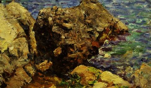 Камень на Чеховском пляже в Гурзуфе