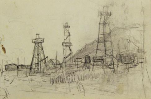 Буровые Куйбышевской ГЭС