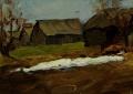 Весна в деревне. Последний снег.
