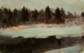 Река Мста на закате