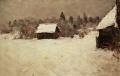Зима в деревне Малый Городок