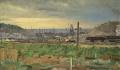 После дождя. Куйбышевская ГЭС.
