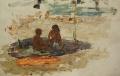 Дети на пляже в Гурзуфе