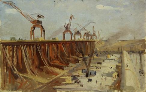 Строительство цимлянской гэс