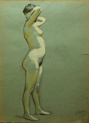 Обнажённая женская модель