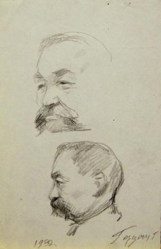 Двойной портрет мужчины с усами