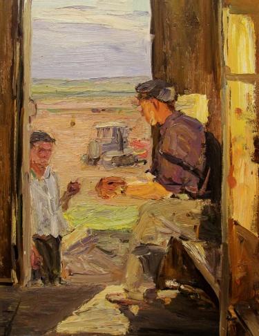 Эскиз к картине Целинники