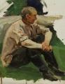 Сидящий мужчина