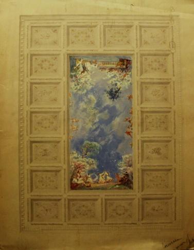 Эскиз потолочного плафона для павильона