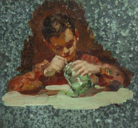 Мальчик с банкой варенья