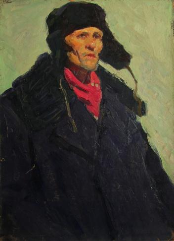 Автопортрет в чёрной шапке
