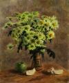 Зелёные хризантемы