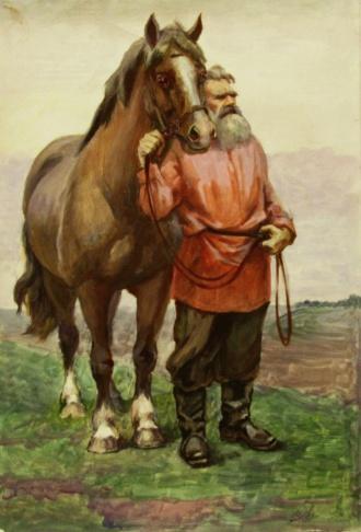 Мужик с конём