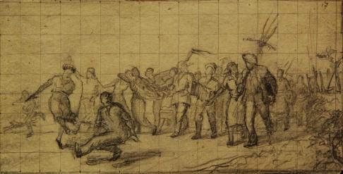 Эскиз 1 к картине «Сельский праздник»