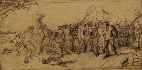 Эскиз 2 к картине «Сельский праздник»
