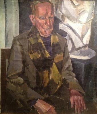 Малагис В. И. «Мужской портрет» 1923 г., холст на картоне, масло. 70 x 50 см