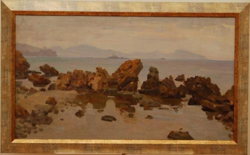 Н.П. Толкунов «Вид на Гурзуф» х.м.  40х70 см. 1952 г.