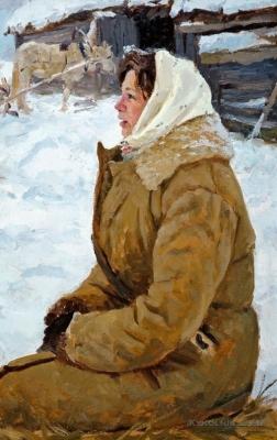 Богатырёв Михаил Григорьевич (1924-1999) «Колхозница» 1960-е