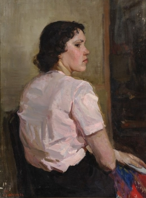 Ирина Шевандронова «Портрет девушки»  1951 г.