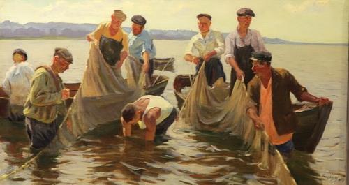 М.Г. Богатырёв «Рыбаки»