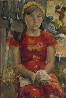 Зоя Яковлевна Матвеева-Мостовая «Абитуриентка из села» 1950 г.  Собственность галереи «Совком»