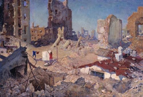 Михаил Яковлевич Пышта «Весна в Сталинграде 1943 года»  1960 г.