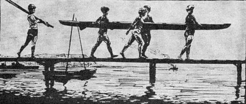 Рим Касымович Тагиров. Утро. Линогравюра. 1964 г. (Репродукция из журнала «Художник» № 6, за 1964 г.)