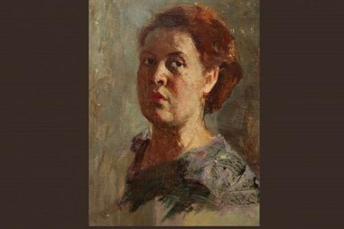 Клавдия Ерофеевна Баланова. Автопортрет.