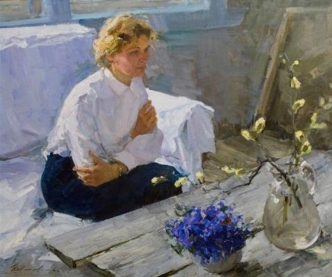 Вячеслав Фёдорович Шумилов «Весна» Холст, масло. 1966 г.