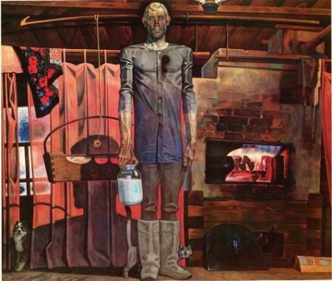 Вячеслав Самарин «Рядовой Мухин с войны не вернулся» (правая часть диптиха) 1981 г.