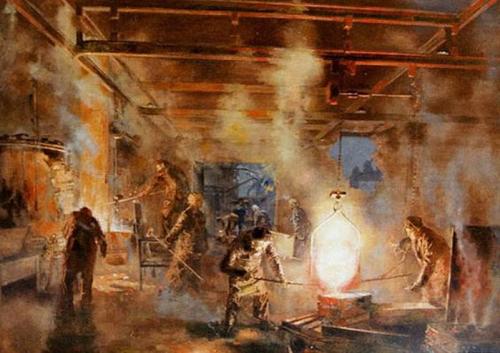 Владимир Малагис «Сталевары»  1950 г. Холст, масло. 162 x 200 см