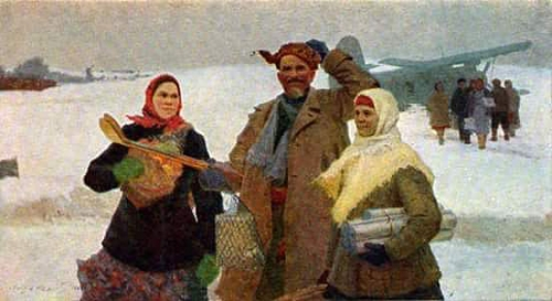 Лотфулла Фаттахов. Из города. Холст, масло. 1963-1964 гг.