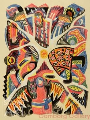 Татьяна Алёшина «Крушение» Бумага, пастель. 62x48 см 1981 г.