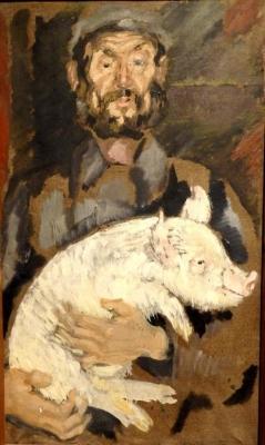 Владимир Малагис «Колхозный свиновод»  1932 г.