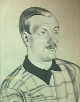 Н.П. Акимов «Портрет Сергея Михалкова»